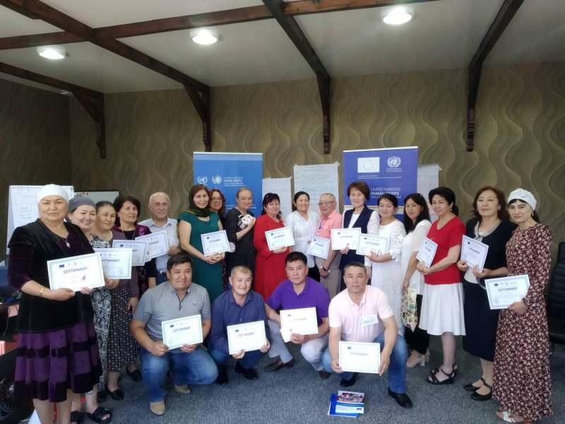 Тренинг по поликультурном образовании от Управление Верховного комиссара ООН по правам человека для Центральной Азии (УВКПЧ ООН)