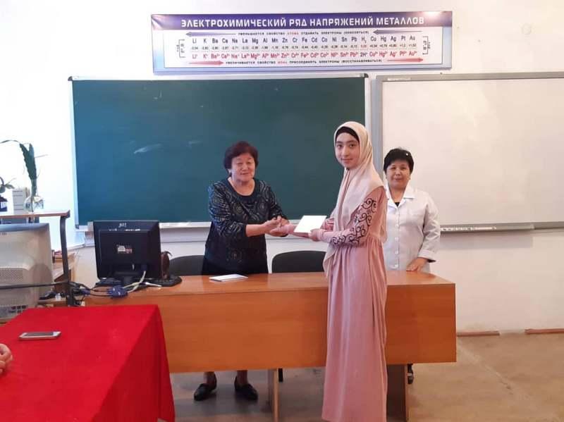 ЖАМУнун Ардактуу профессору, х.и.к. Ч.Ш.Исмаилова студенттер менен жолугушту